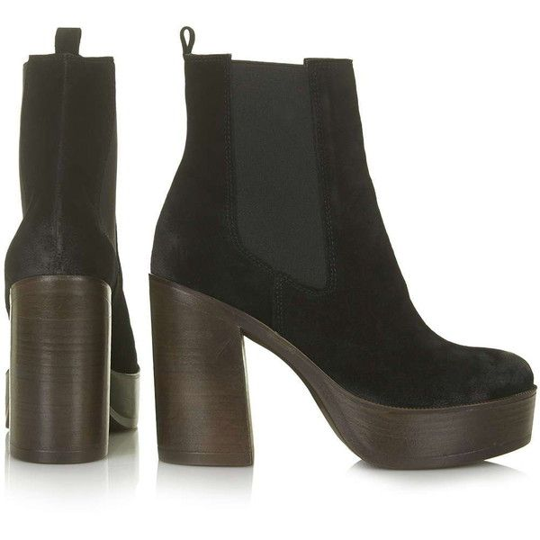 cdbc6494938 TOPSHOP HOLLY  70s Chunky Ankle Boots ( 105) ❤ liked on Polyvore featuring  shoes