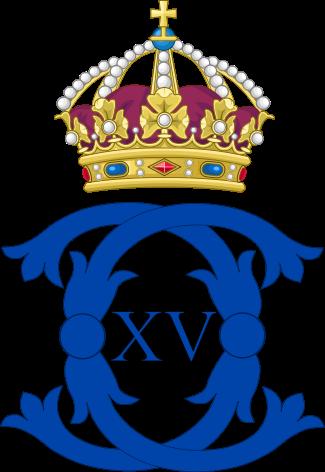 Royal Monogram of King Charles XV of Sweden