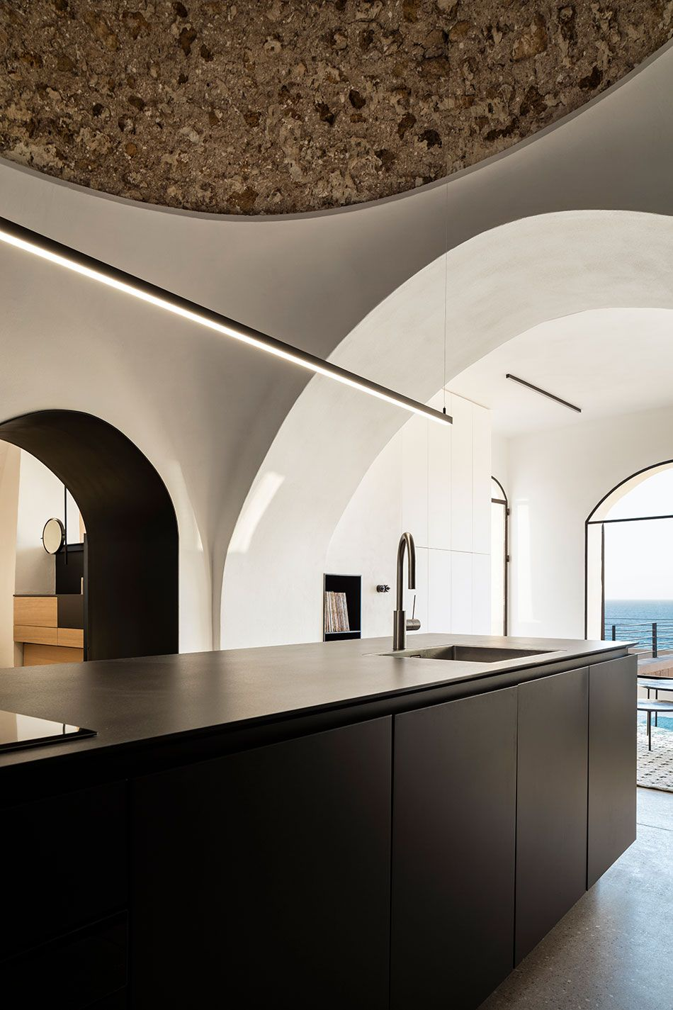 Pitsou kedem architects has refurbished a historic apartment in jaffa the ancient port city located south of tel avivs urban center in israel