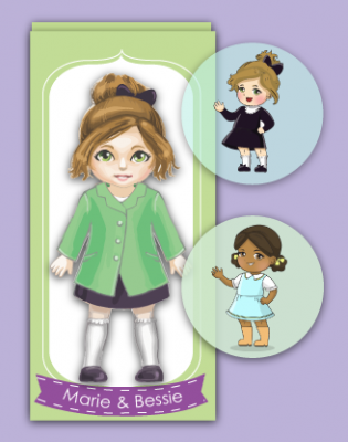 Miss Possible dolls.  Dolls based on women in history, including activities based on physics, chemistry, aviation, and computer programming.