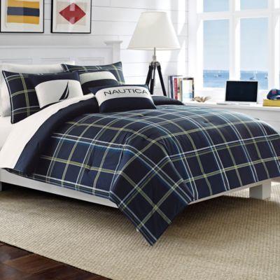 Buy Nauticaa Barrett Twin Comforter Set In Navy From Bed Bath