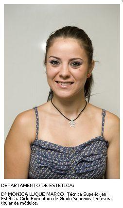 Mónica Luque. Departamento de Estética