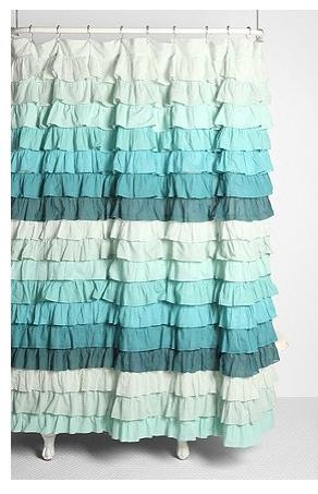 Anthropologie Flamenco Shower Curtain Ruffle Shower Curtains