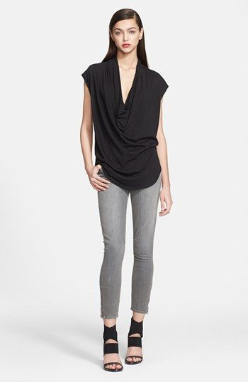 HELMUT Helmut Lang 'Feather' Draped Jersey Tee available at #Nordstrom