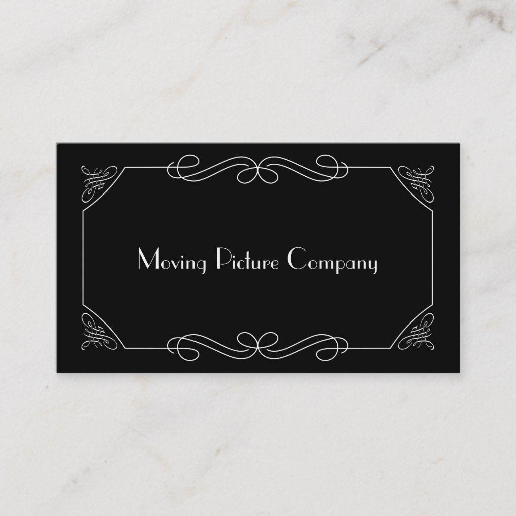 Silent Film Intertitle Business Card Zazzle Com In 2021 Silent Film Title Card Moving Picture Company