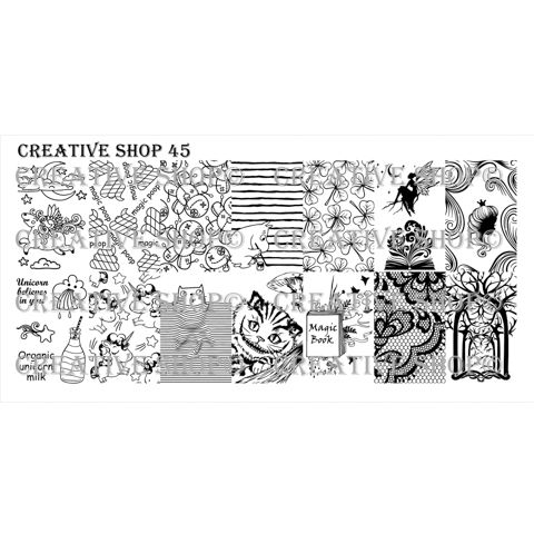 Creative Shop- Stamping Plate- 45