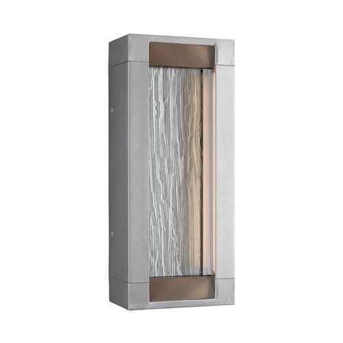Mattix Painted Silver Short Led Low Voltage Outdoor Sconce