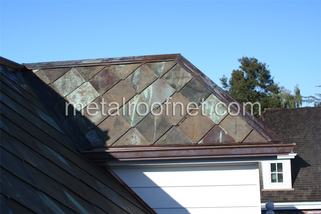Copper Diamond Shingles Copper Roof Metal Roofing Systems Metal Roof