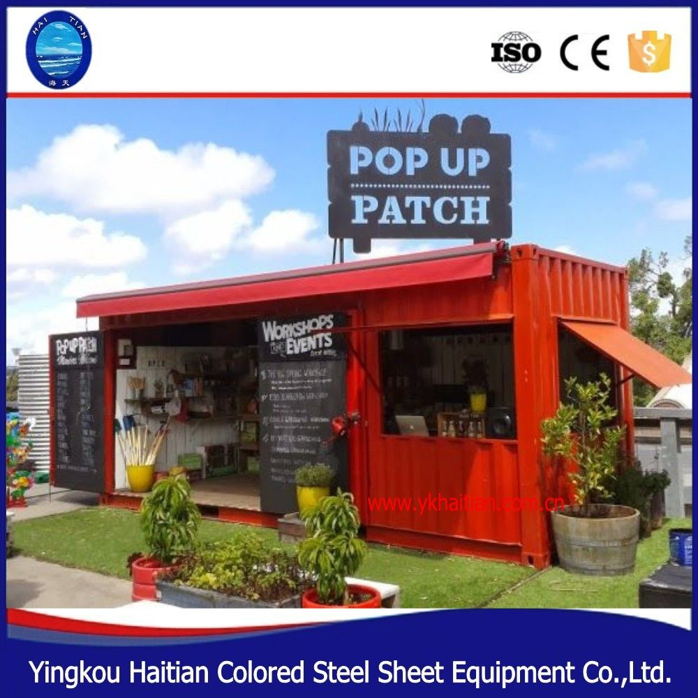 Outdoor fast food kiosk design china mobile ccontainer
