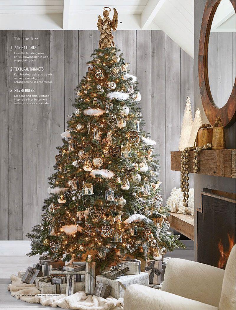 Volshebnye Prazdniki V Rozhdestvenskoj Kollekcii Ot Pottery Barn Foto Idei Dizajn Pottery Barn Christmas Tree Beautiful Christmas Decorations Christmas Decor Diy