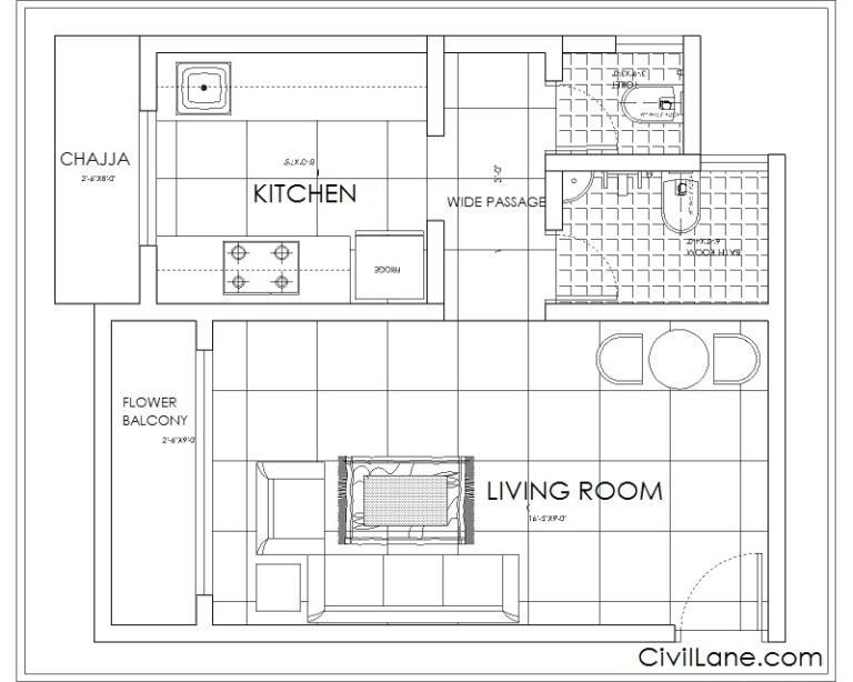 1 Rk To 1 Bhk Budget Renovation With Images House Layouts Apartment Plans