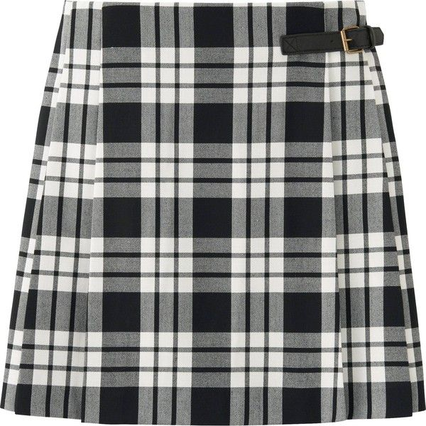 49c635e7f UNIQLO Women Wool Blended Check Skirt ($5.90) ❤ liked on Polyvore featuring  skirts, dark gray, wrap skirt, wool blend skirt, checkerboard skirt, uniqlo  and ...