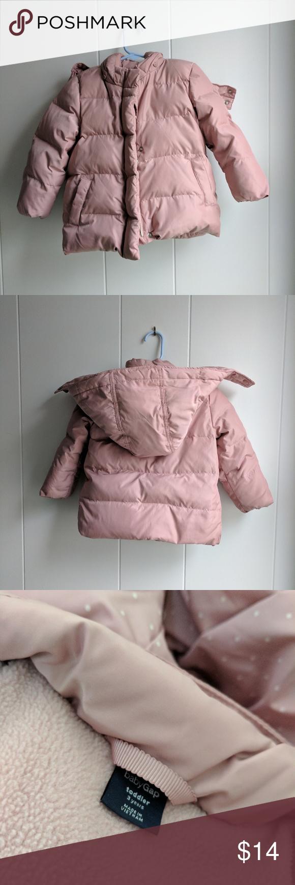 Baby Gap Rose Pink Puffer Jacket 3t Pink Puffer Jacket Toddler Jacket Jackets [ 1740 x 580 Pixel ]