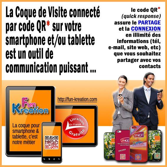✅ COQUE de VISITE connecté par code QR pour Smartphone/Tablette IPHONE, SAMSUNG, SPECIAL ENTREPRISE. http://fun-kreation.com/content/6-pour-les-professionels