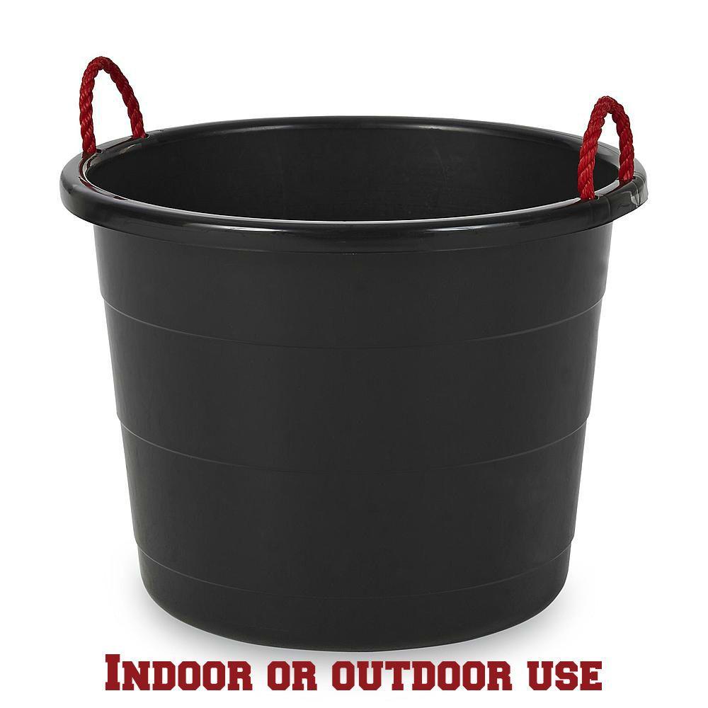 17 Gallon Rope Handled Large Round Durable Multipurpose Storage Tub Kid Friendly Storage Tubs Rope Handles Storage Buckets
