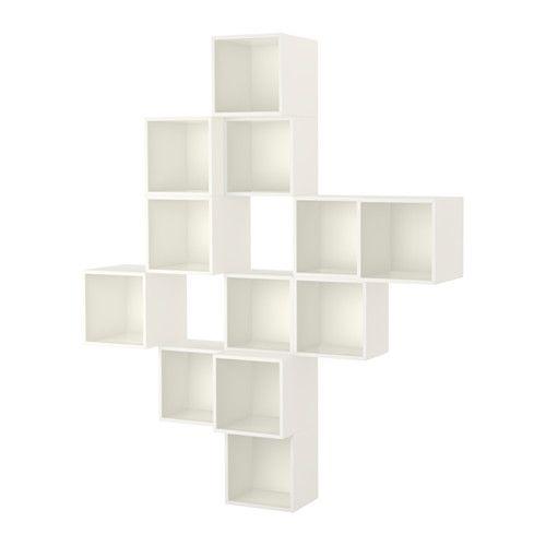 Eket Wall Mounted Cabinet Combination White Length 27 Learn More Ikea Eket Wall Mounted Cabinet Wall Mounted Shelving Unit