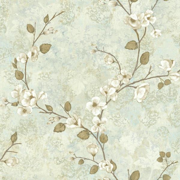 York Wallcoverings Dogwood Paper Strippable Roll Wallpaper Covers 56 Sq Ft Tb4315 The Home Depot Wall Coverings Wallpaper Roll Floral Wallpaper
