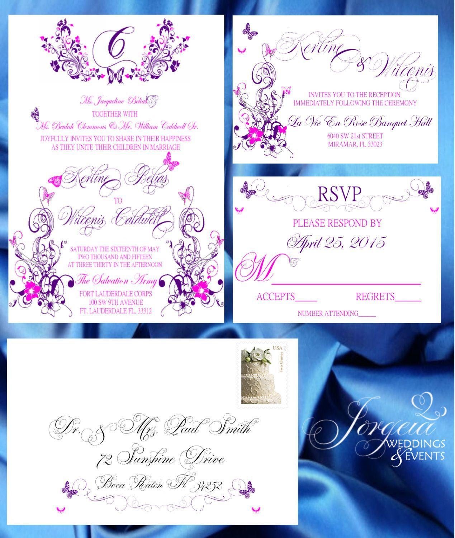 Wedding Invitation Set Of 100 Save The Date Wedding Invitation