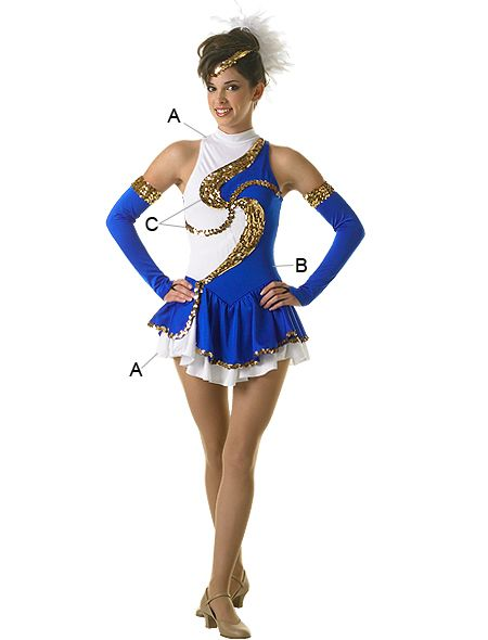 75a9cd412b9a Field Uniform (twister dress)(as pictured for line members)(solid white  with Navy Blue sequins for lieutenants)(solid white with gold sequins for  captain)