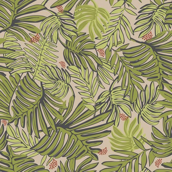 Aja Removable Wallpaper Tiles - Khaki from The Jungalow