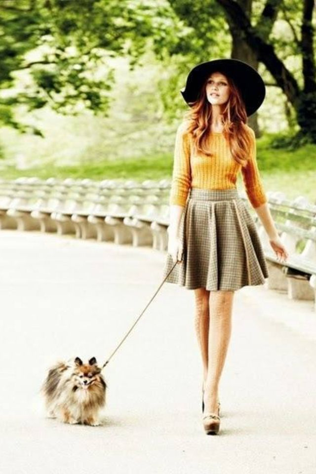 Skirts, tights and hats!