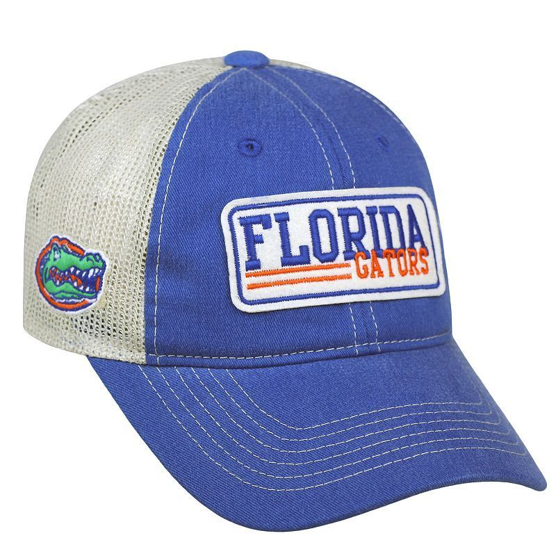 Adult Top of the World Florida Gators Patches Adjustable Cap, Med Blue