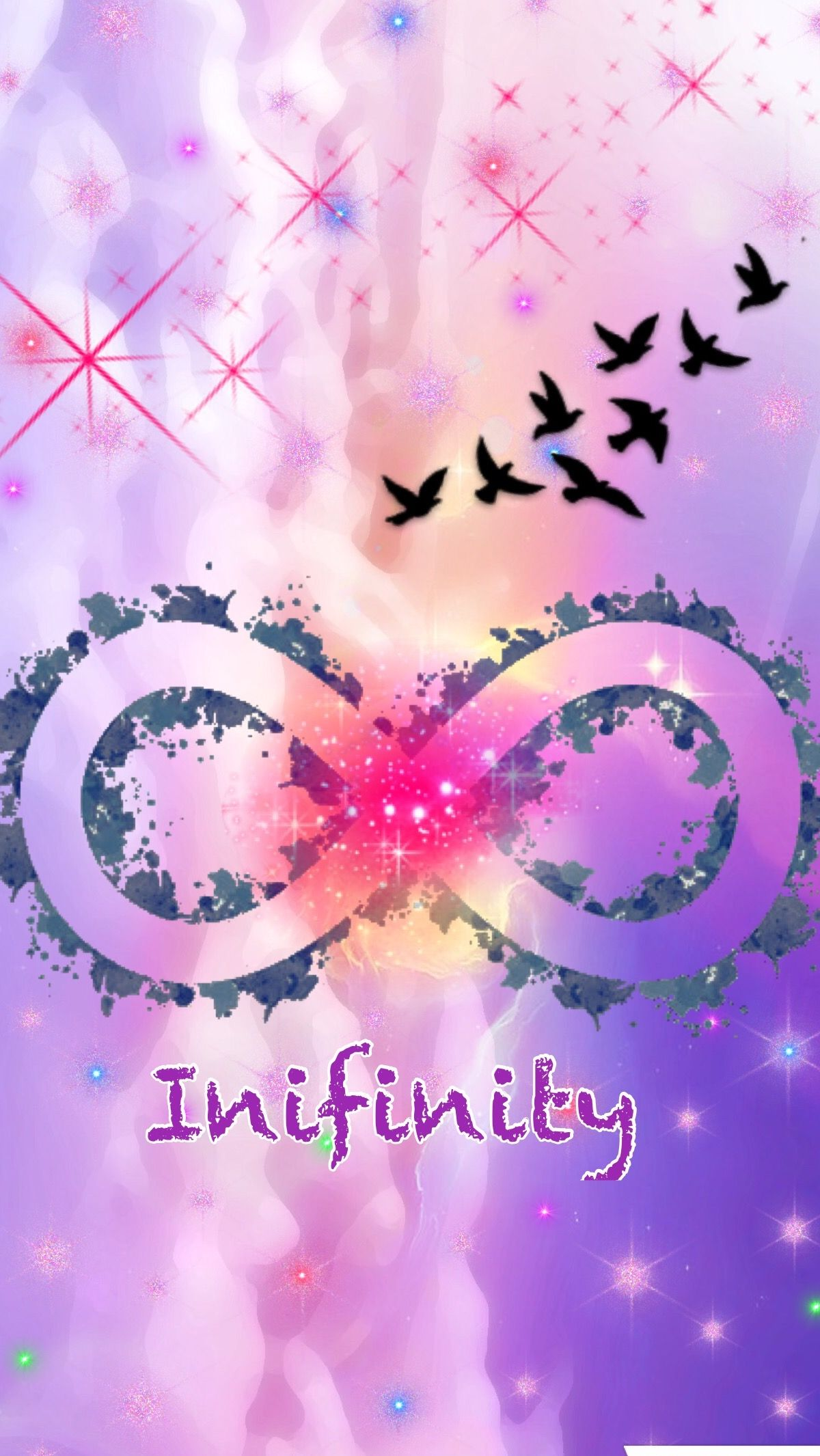 Cute girly infinity Galaxy Wallpapers....by me