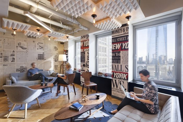 Office tour wework new york city coworking offices for Office design york