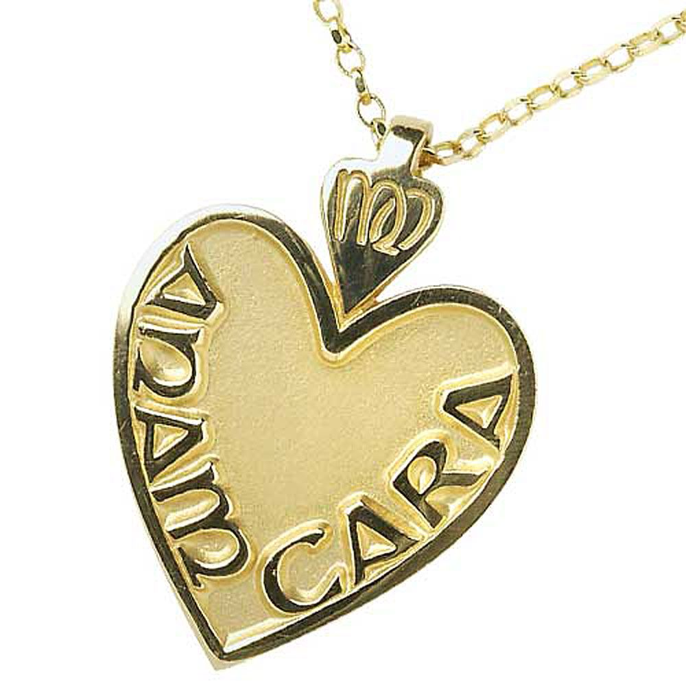 Large Gold Mo Anam Cara Pendant Large pendant necklace