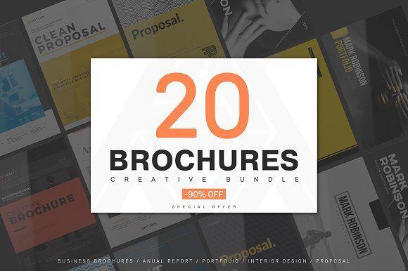 20 Creative Brochures - Mega Bundle Brochures, Brochure template - free blank flyer templates