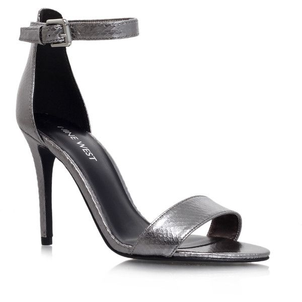 Mana3 Nine West Silver (175 CAD) ❤ liked on Polyvore featuring shoes, silver, metallic high heel shoes, nine west shoes, nine west, disco shoes and metallic shoes