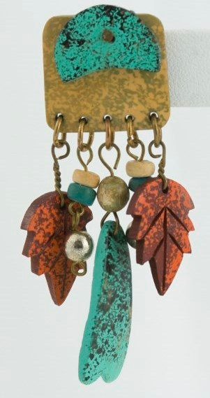 Vintage Fall Themed Orange and Turquoise Colored by eyespytreasure, $9.00