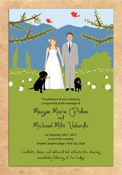 Bride Groom Pet Invites Because We Want To Get A Dog Soon