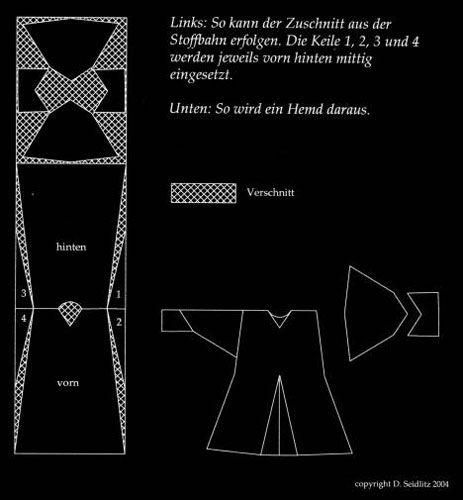 Schnitt für eine Herren-Tunika | Nähen - Schnittmuster | Pinterest