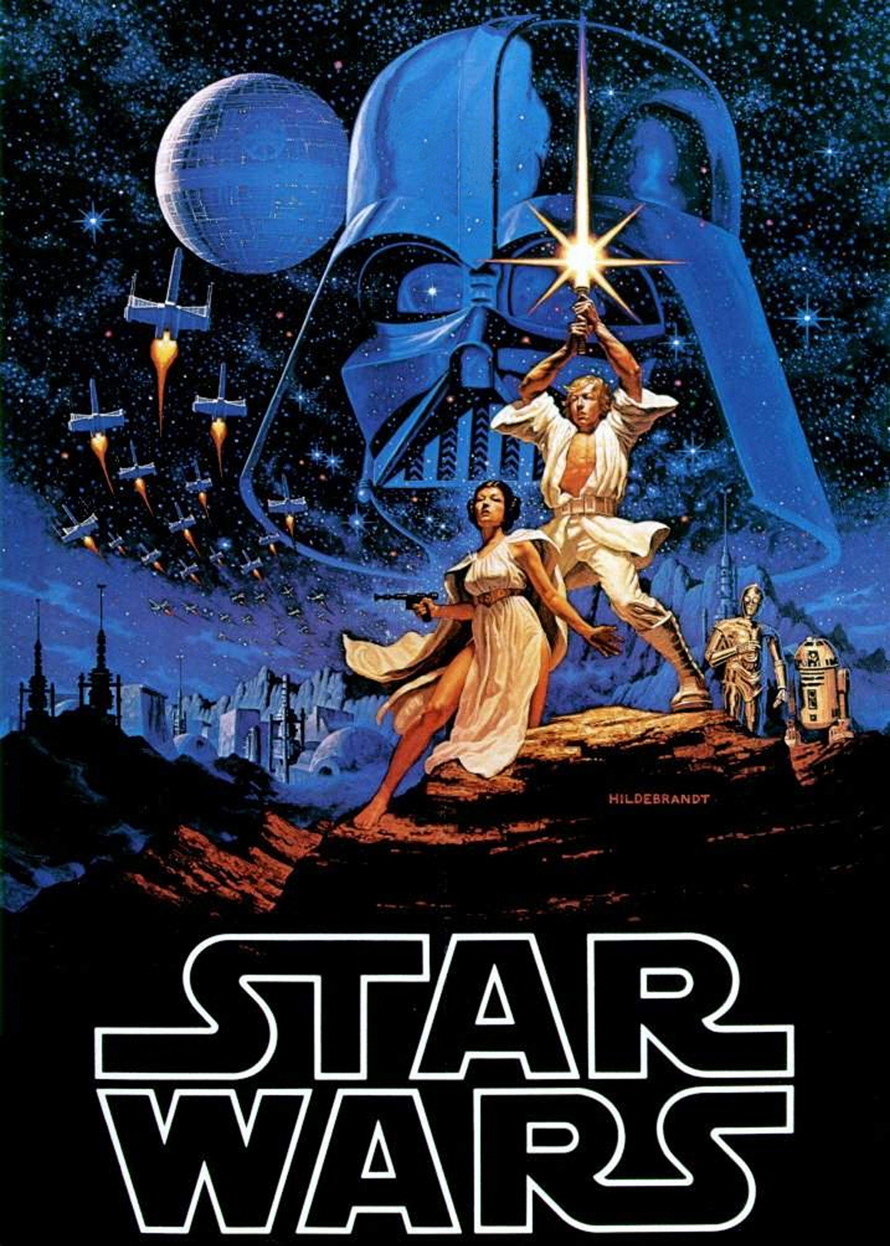 STAR WARS JEDI Home Wall Art Print A4,A3,A2,A1 Vintage Movie Film Poster