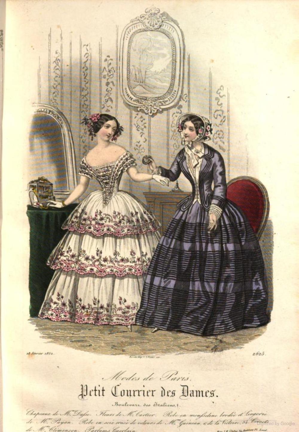 Petit Courrier Des Dames 1852 Journal Des Modes Google Books Fashion Illustration Vintage 1850s Fashion Historical Fashion