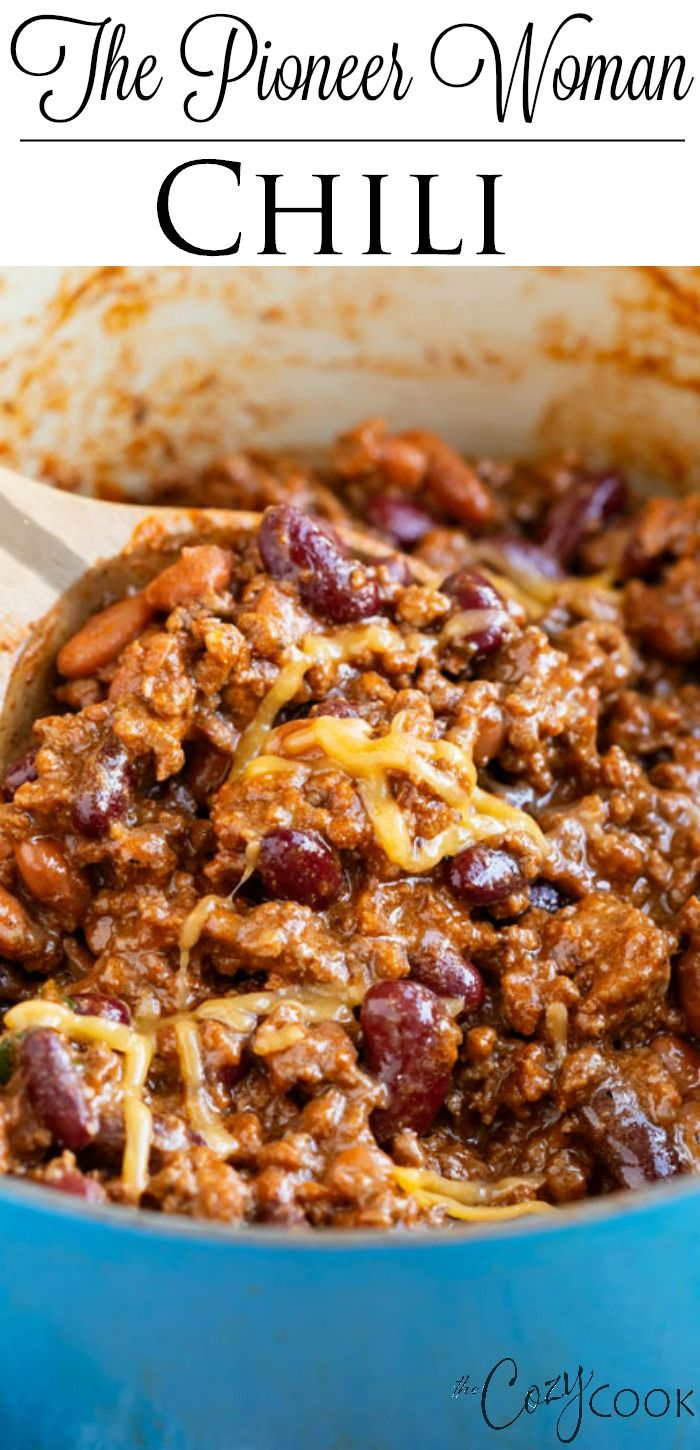 The Pioneer Woman Chili - The Cozy Cook