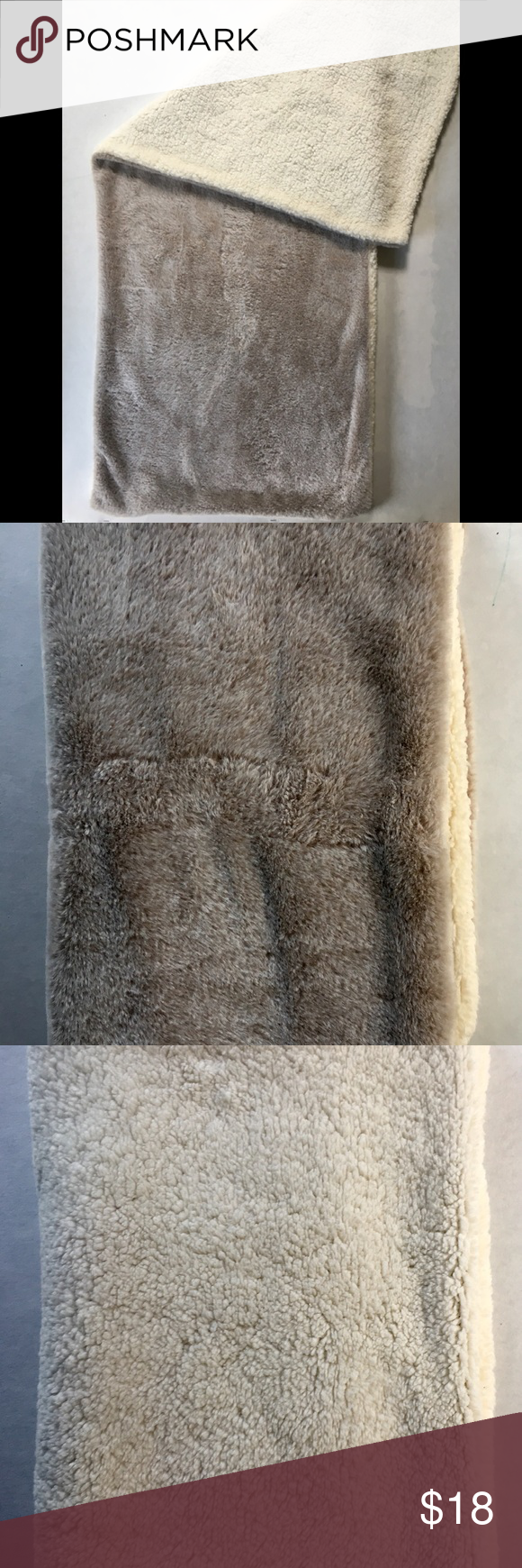 Body Pillow Cover NWOT Brand new, one side grey faux fur the opposite side cream...