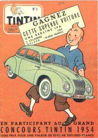 Journal de TINTIN édition Belge N° 8 du 24 Février 1954 Grand concours Tintin 1954