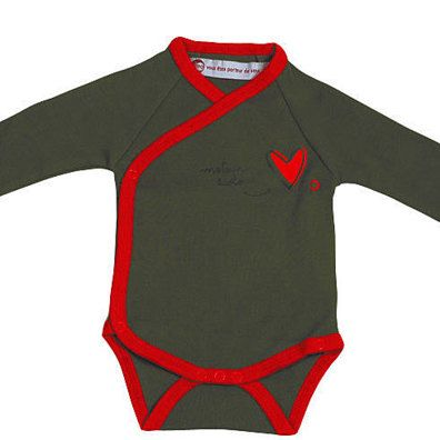 Ecological Engine Heart Organic Onesie by IDEO by Wild Dill on Opensky