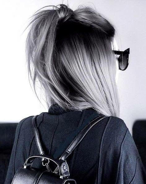 Coiffure A Essayer Hair Hair Hair Styles Silver Hair
