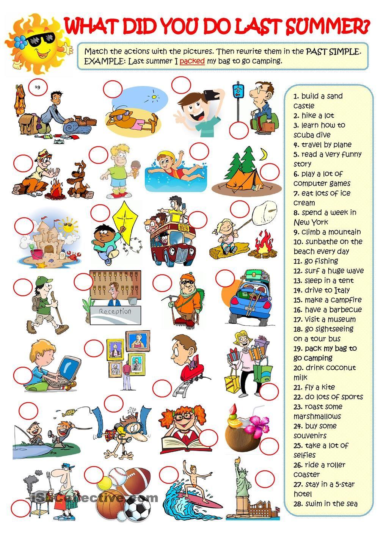Learn Past Tense Verbs #1 - Pattern Practice - Simple Past ...