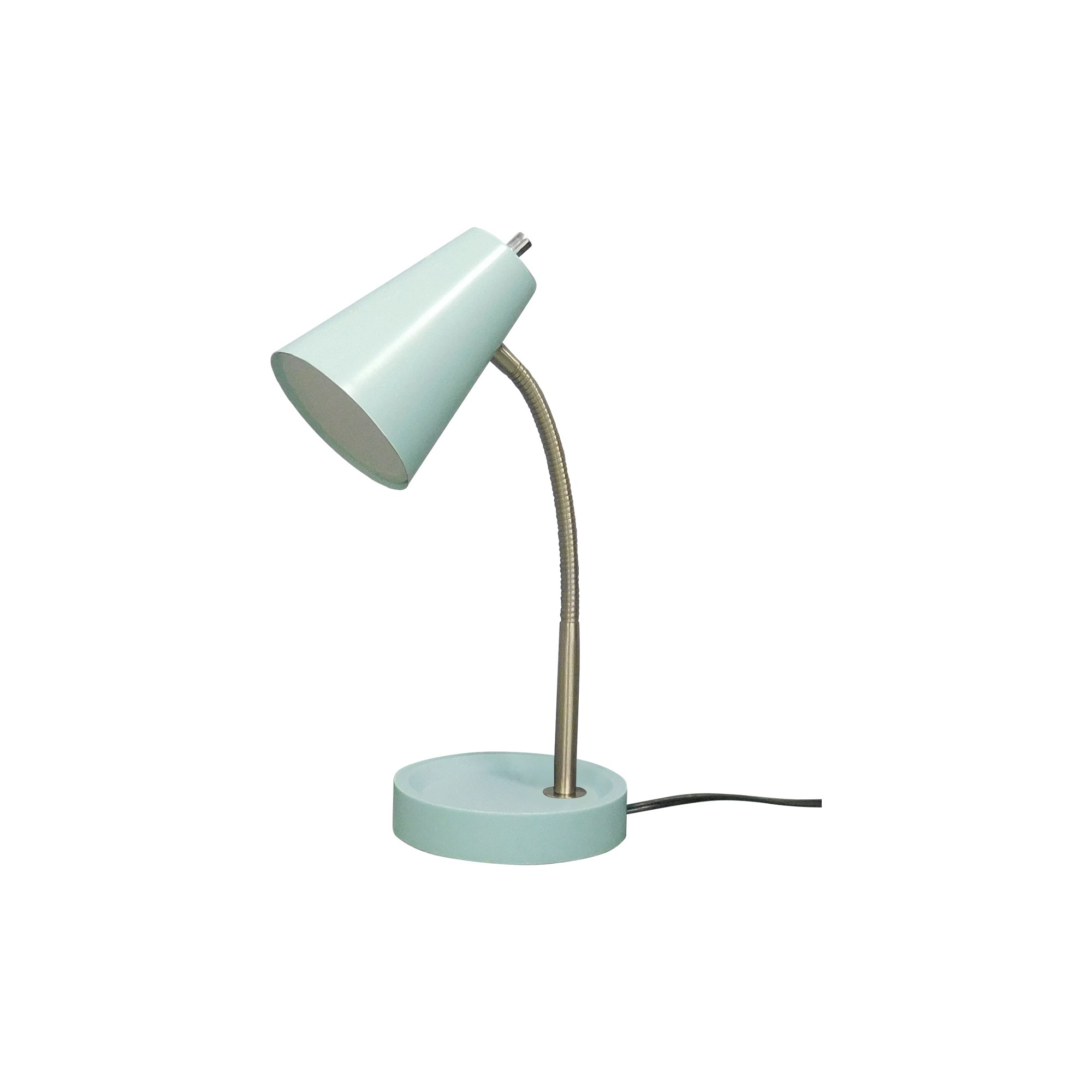 pin lamp lamps table glass silver aqua and