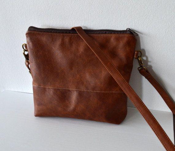 Leather Crossbody Bag, Distressed Shoulder Purse, Leather Bag Purse ... a36ae88cad