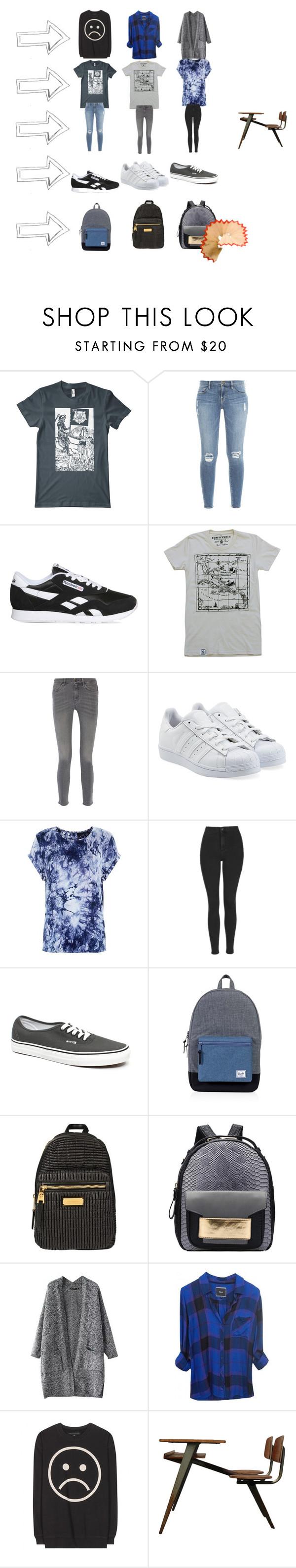 """Avg. School Uniform"" by adiaz064 on Polyvore featuring American Apparel, Frame Denim, Reebok, MiH Jeans, adidas Originals, Parisian, Topshop, Vans, Herschel Supply Co. and Juicy Couture"