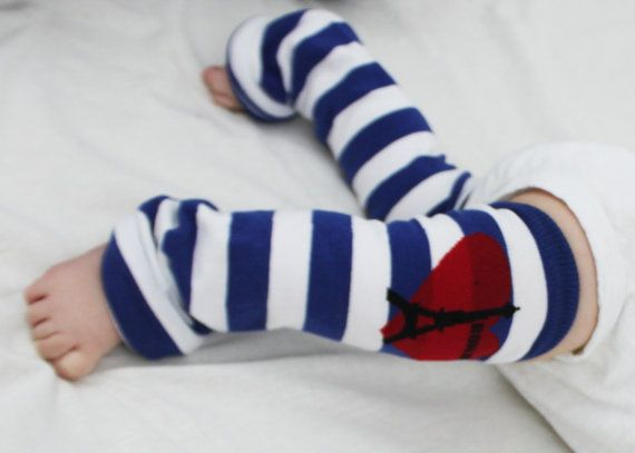 3 Sets NEW Boys Baby Legs Anchors /& Stripes Legwarmers For Crawlers