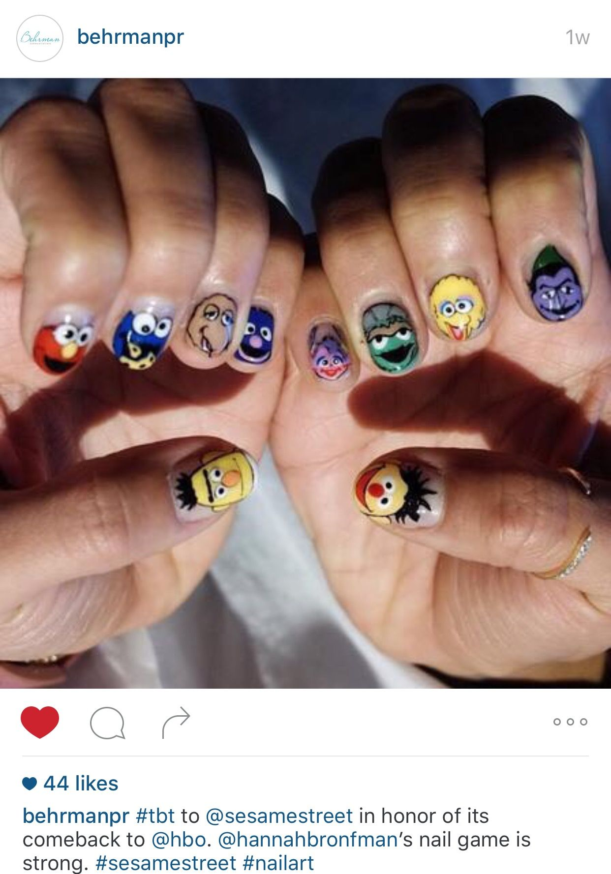 Sesame Street Nail Art Nails Pinterest Sesame Streets