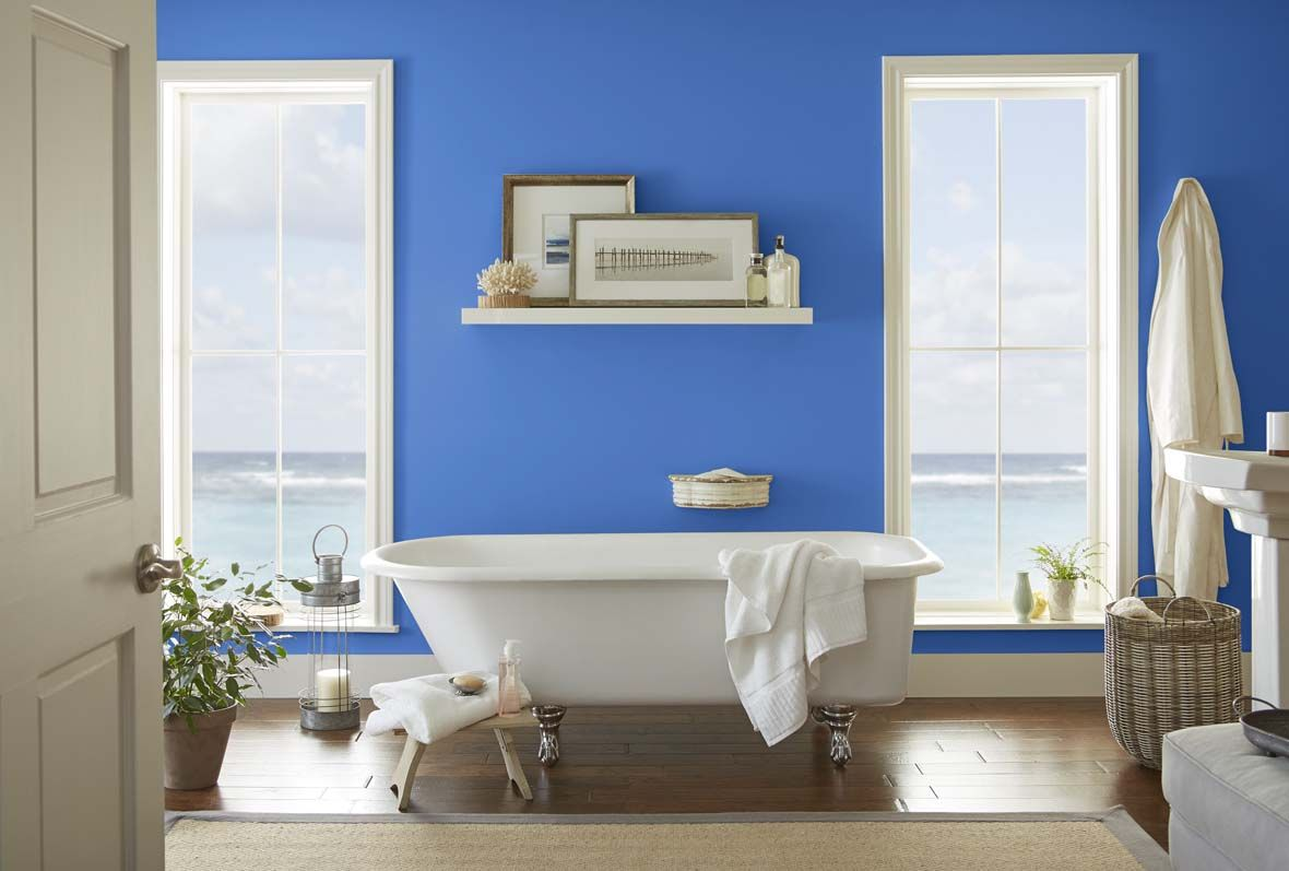 Behr Color Trends 2018 Color Sample T18-17 WIDE SKY   Freaky fresh ...