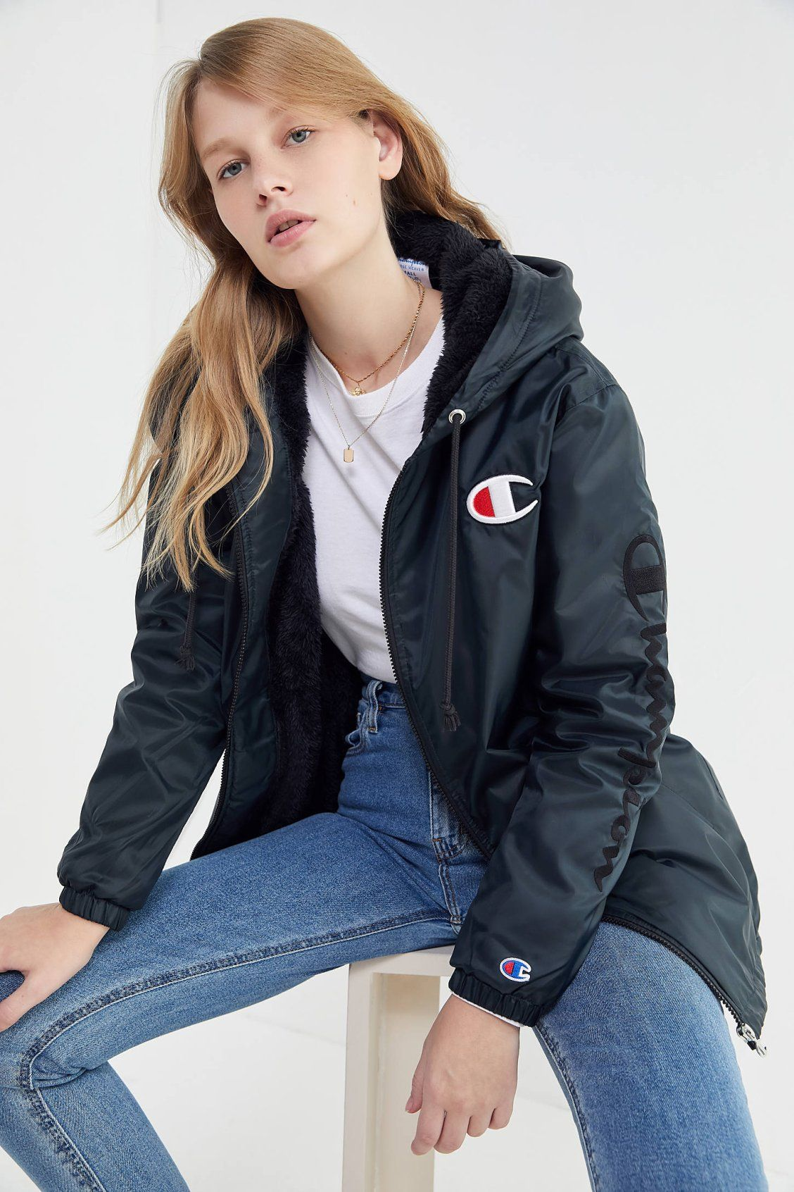 e528c57851 Champion Sherpa Lined Hooded Anorak Jacket in 2019