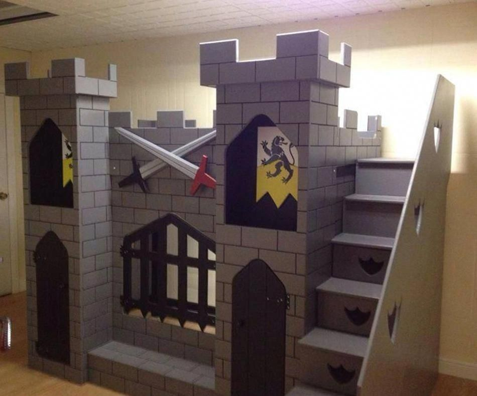 Knight S Castle Bed Castle Bed Castle Bedroom Kids Kid Beds